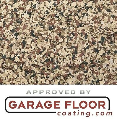 """2 lbs - Decorative Color Chip Flakes for Epoxy Floor Coatings, 1/4""""  #CCB-001"""