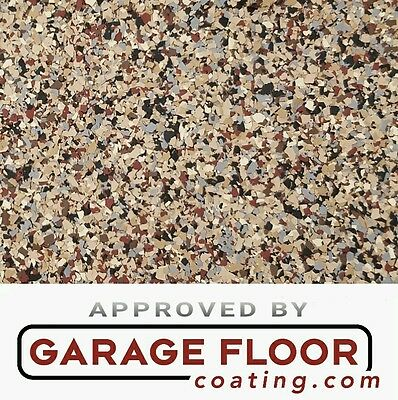 """5 lbs - Decorative Color Chip Flakes for Epoxy Floor Coating, 1/4"""" Blend CCB-010"""