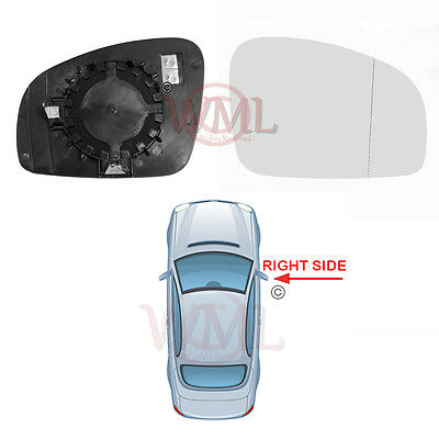 RENAULT TWINGO 2008/>2010 DOOR MIRROR GLASS SILVER ASPHERIC,HEATED/&BASE,RIGHTSIDE