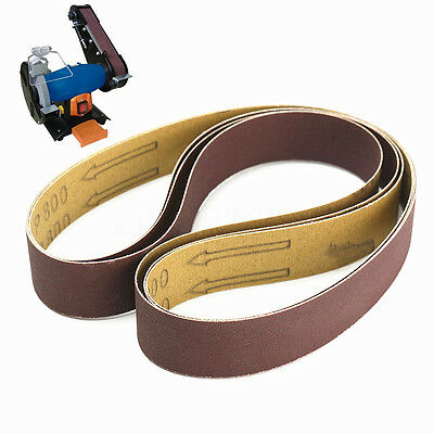 3 Pack 1'' x 30'' Sanding Belts, 800 Grit, 760 x 25mm, Power Belt Sander