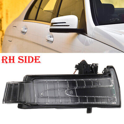Right Side -Led Marker Turn Signal Mirror Lens Light For Mercedes W204 W212 W221
