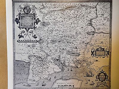 1575 Antique Map Of Hampshire - Christopher Saxton - Reproduction