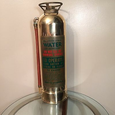 ANTIQUE Brass & Copper FIRE EXTINGUISHER for BELL SYSTEMS