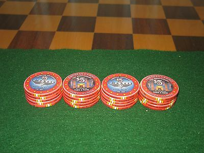 20 Empress Casino  Limited Edition 15th Anniversary $5 Poker Chips by Chipco New