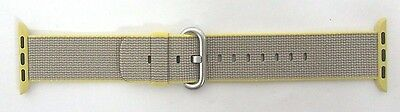 Apple Watch 38mm Yellow/Light Gray WOVEN NYLON BAND - 3C428AM/A #1233
