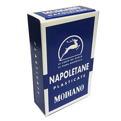 Napoletane Blue Solid Back Color Italian Regional Deck 40 Playing Cards Naples