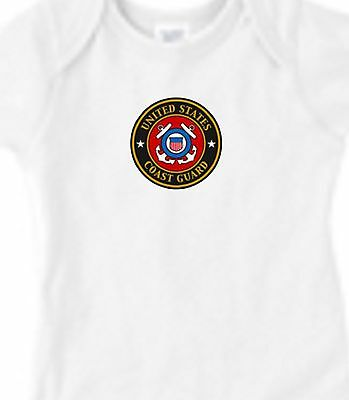 USCG Coast Guard Military Infant Baby Kid Mom Gift Bodysuit One NB 6mo 12mo 18mo