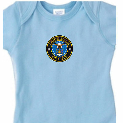 USAF United States Air Force Military Infant Kid Baby One Gift Bodysuit