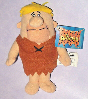 "The Flintstones - Barney Rubble 8"" Plush Soft Toy With Card Tag Warner Bros Wb"