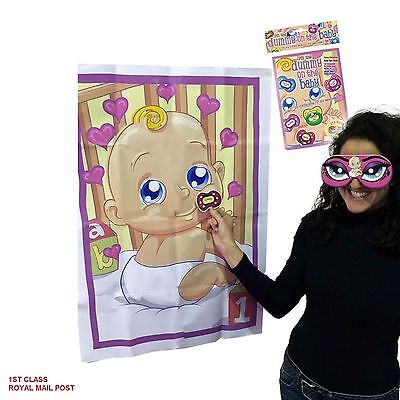 PIN THE DUMMY ON THE BABY SHOWER PARTY GAME Up to 12 Players Boy Girl Unisex