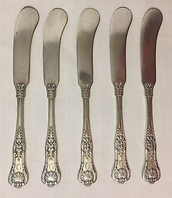 Tiffany & Co. SP English King Butter Spreaders / Knives - Set of 5