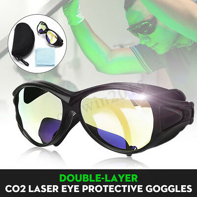 CO2 Laser Eye Protective Goggles Double-Layer Professional Clear Safety Glasses