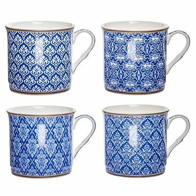 Heritage - Fine Bone China Moroccan Blue Princess Mug Set of 4