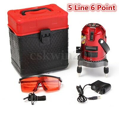 Professional Automatic Self Leveling 5 Line 6 Point Laser Level Measure 635nm