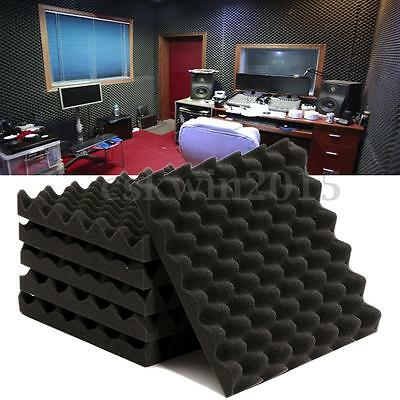6Pcs Studio Noise Sound Proofing Acoustic Foam Egg Crate Panels Sheets