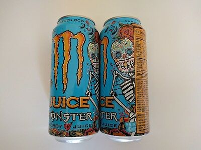 2x Monster 16 oz. Mango Loco Energy Drink Full Cans