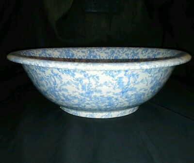 """Collectible Jennifer Moore Hand Painted Ceramics Italy Large Bowl 11.25"""" W"""
