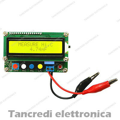 INDUTTOMETRO CAPACIMETRO LC Tester LC100-A original blue LED LCD INDUCTANCE 5V
