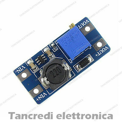 Step UP Regolabile DC-DC Convertitore MT3608 OUT 28V - Boost, IN 2-24V arduino