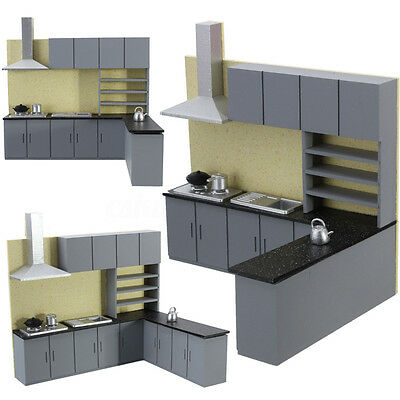 1:25 Dollhouse Art Modern Kitchen Cabinet Set Model Kit Furniture Game Favors