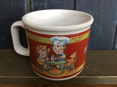 Campbells Soup Mug 1998 Houston Harvest Kids Tea Party with Teddy Bear