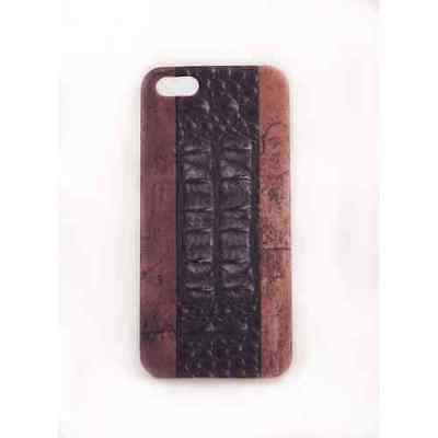 Coque iPhone 5 5S SE Wood Croco Meat Japan - Plastique
