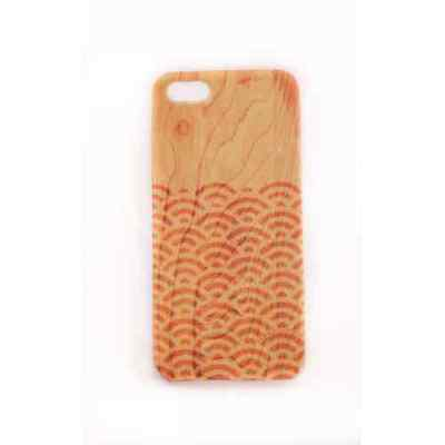 Coque iPhone 5 5S SE Wood Japan Waves Meat Japan - Plastique