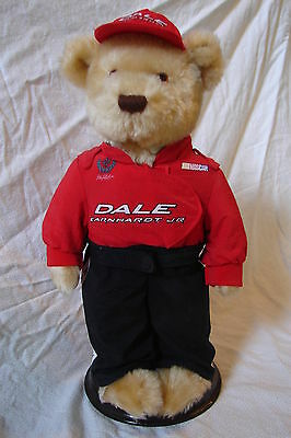 "Awesome AVON Nascar Collectible Plush 10"" Dale Earnhardt JR w/ Stand & Box"