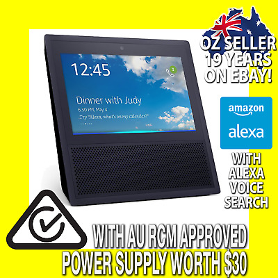 "(INC AU PSU) Amazon Echo Show Black Alexa Search + 7"" Screen for Home Automation"