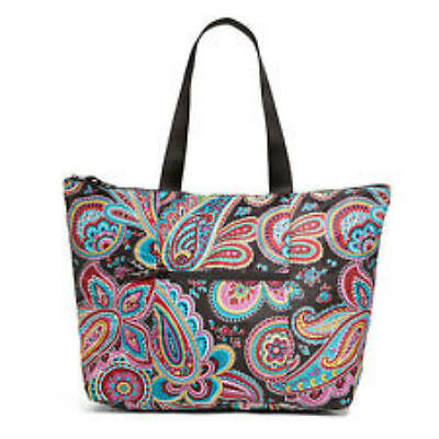 Vera Bradley Tote In A Pouch Tag  Parisian Paisley Polyester Zip Top Multi Color