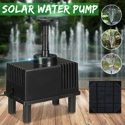 180L/h Solar Power Fountain Water Pump With Filter Panel Kit Pond Water Feature