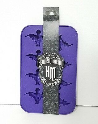 Disney Parks Haunted Mansion Bats Wallpaper Ice Cube Purple Silicone Tray