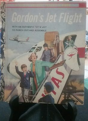 GORDON'S JET FLIGHT Little Golden Book 1963 Australian Qantas Edition VGC