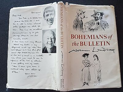 Bohemians Of The Bulletin Book Hb Dw Norman Lindsay1St Edition 1965 Australia