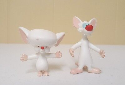 Vintage 1994 Pinky And The Brain Bendable Toy Figures Animaniacs