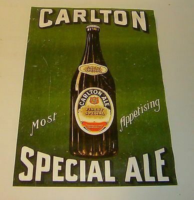 Carlton Special Ale Beer wall poster print perfect for home bar pub or collector