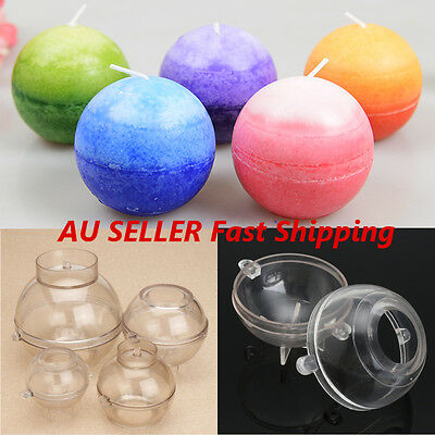 100Mm Ball Shaped Plastic Candle Mold Soap Molds DIY Tools Craft Clay Chocolate