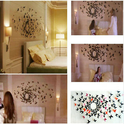 12 pcs 3D DIY Wall Sticker Stickers Butterfly Home Decor Room Decorations d2