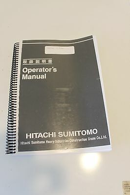 Hitachi Sumitomo Operators Manual SCX2800-2