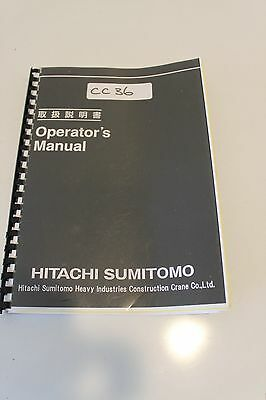 Hitachi Sumitomo Operators Manual SCX2800-2 Book