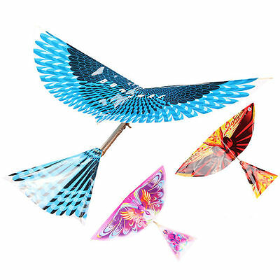 1PC Creative Kid Adult Handmade DIY Bionic Air Plane Bird Model Science Kite Toy