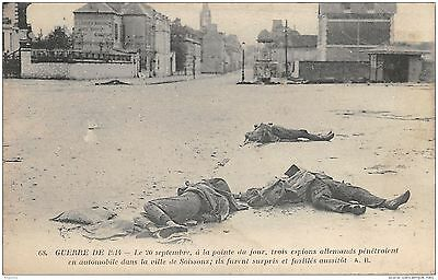 02-Soissons-Trois Espions Allemands Morts-N°R2040-B/0195