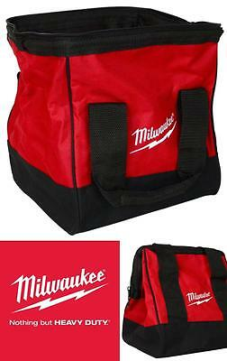 USA Milwaukee Heavy Duty Contractors Bag Drill Cordless Driver Hammer Storage