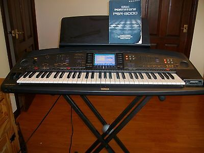 yamaha portatone psr 8000 keyboard with stand foot pedal. Black Bedroom Furniture Sets. Home Design Ideas