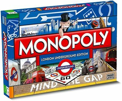 Monopoly London Underground Edition Family Board Game Brand New Sealed