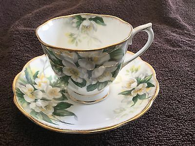 Royal Albert Bone China  Cup And Saucer England   Orange Blossom Pattern
