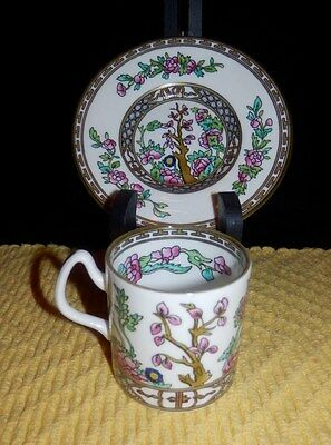 Vintage Coalport Bone China AD 1750 Indian Tree DemiTasse Cup/Saucer