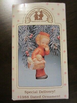 1988 Enesco Memories of Yesterday Special Delivery Ornament Baby's 1st Christmas