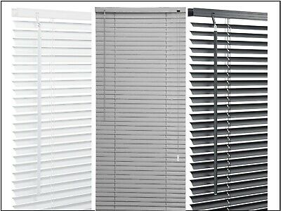 Pvc Venetian Blinds Window Blind In Black , White All Sizes