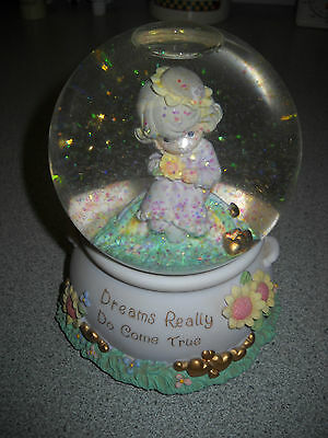 "Enesco Precious Moments Snowglobe ""dreams Really Do Come True"""
